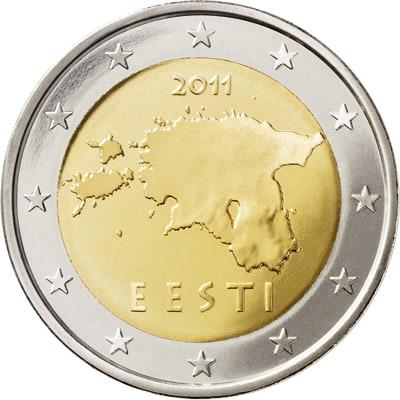 Polémica con los euros de Estonia
