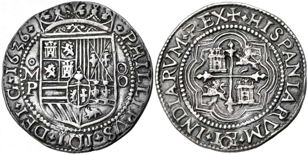 8 reales Mexico 1636
