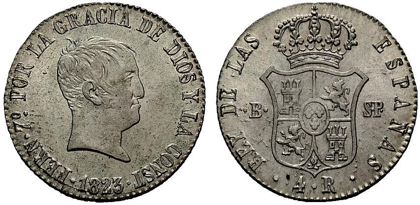 4 reales 1823
