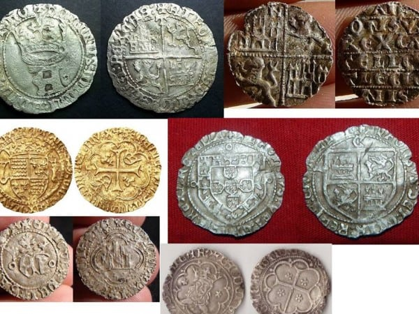 monedas fundidas