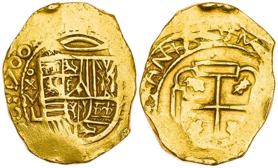8 escudos Carlos II México