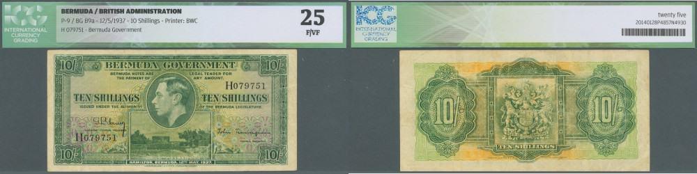 Bermuda: 10 Shillings 1937