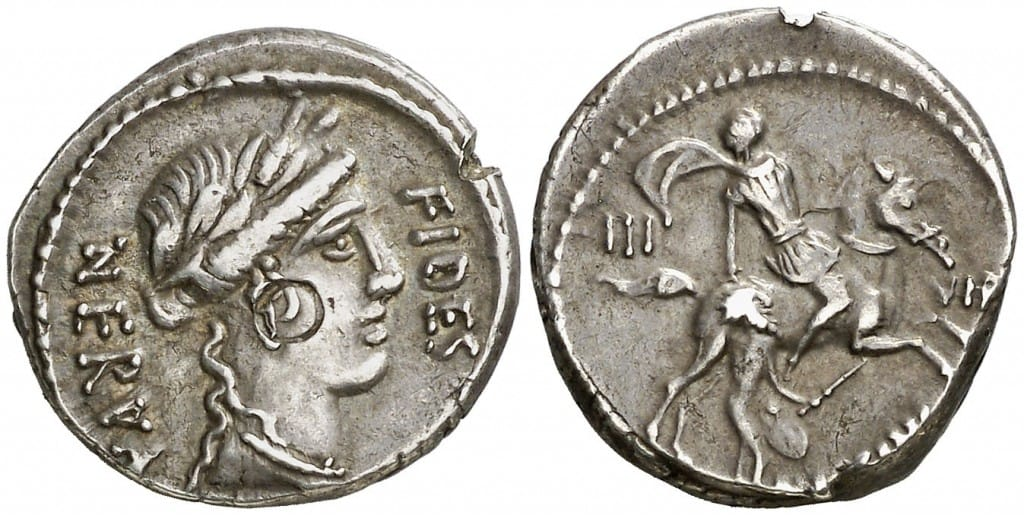 denario de Aulo Licinio Nerva