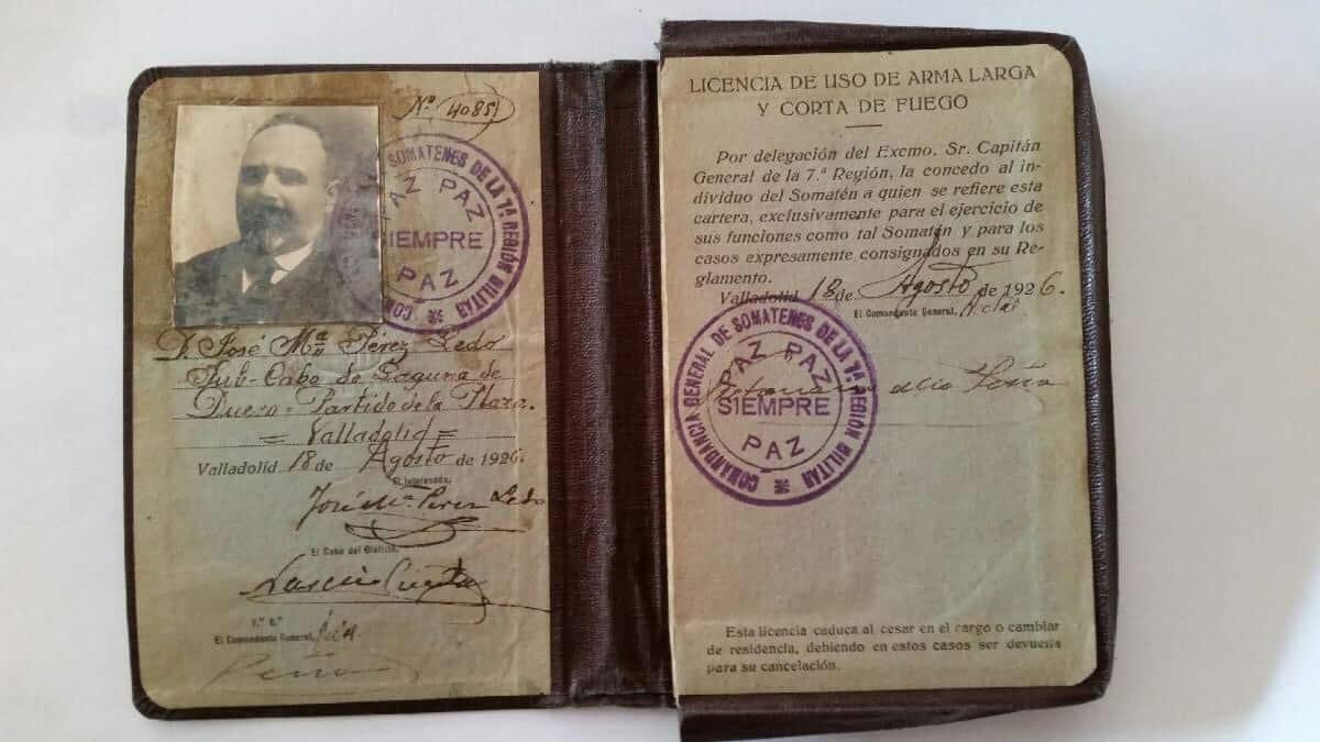 antigua licencia de armas