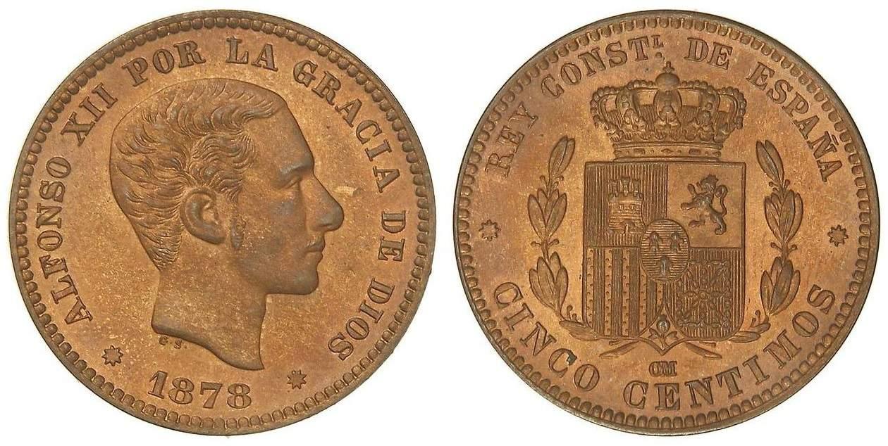 5 céntimos 1878