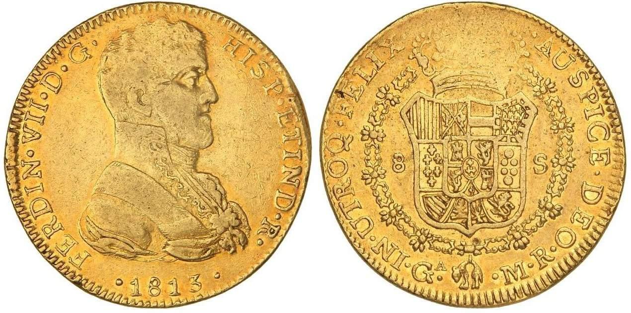 8 escudos Guadalajara 1813