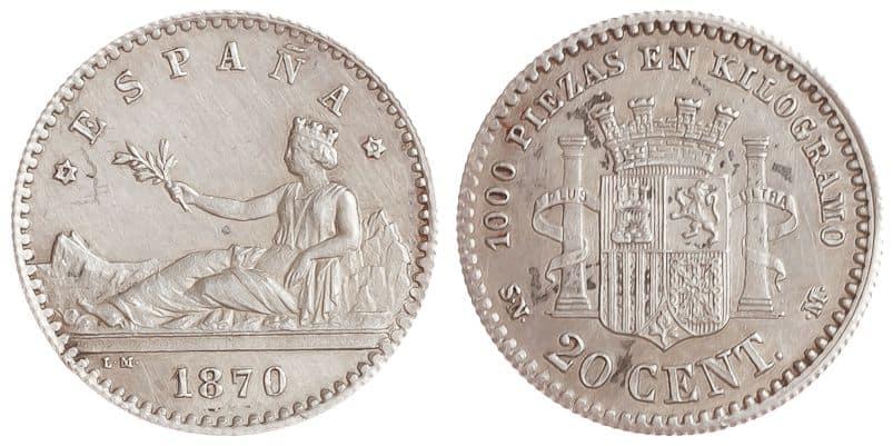 20 céntimos 1870