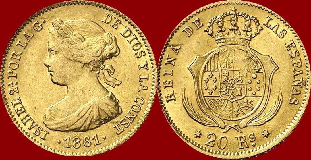80 reales Isabel II