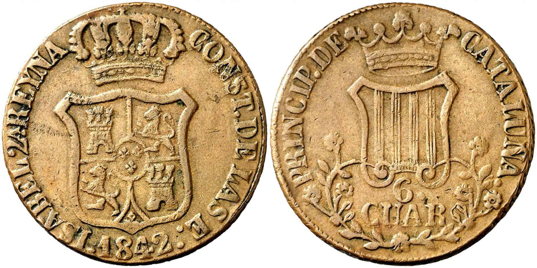 6 cuartos 1842