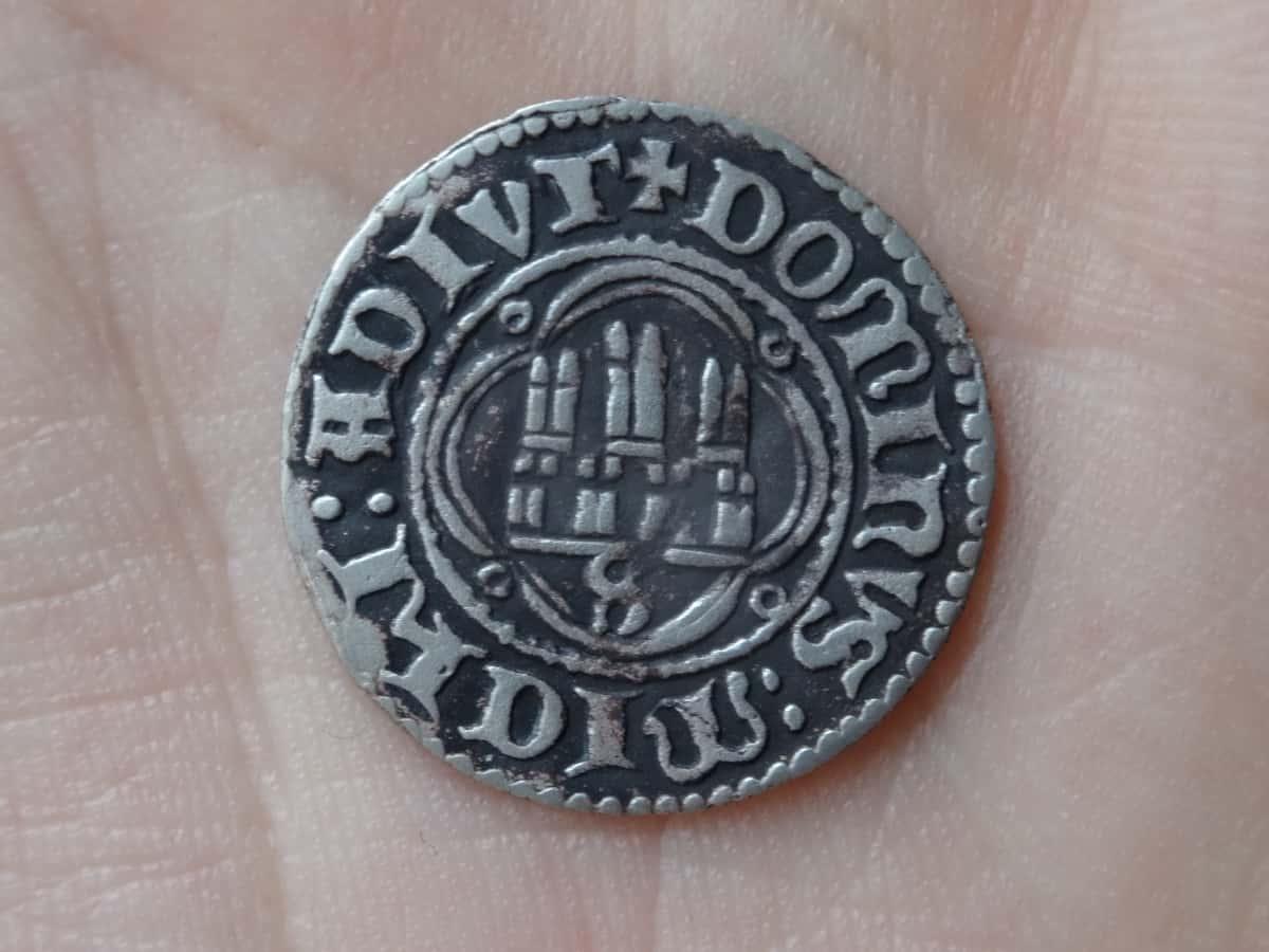 medio real falso Pedro I Sevilla