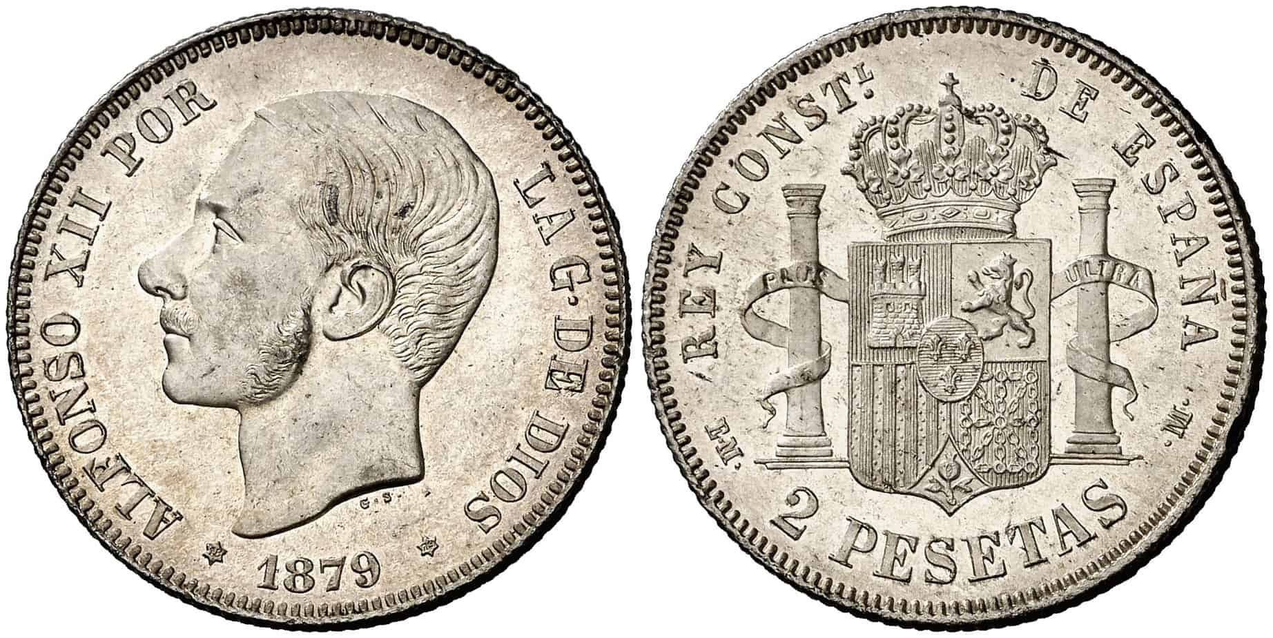 2 pesetas 1879