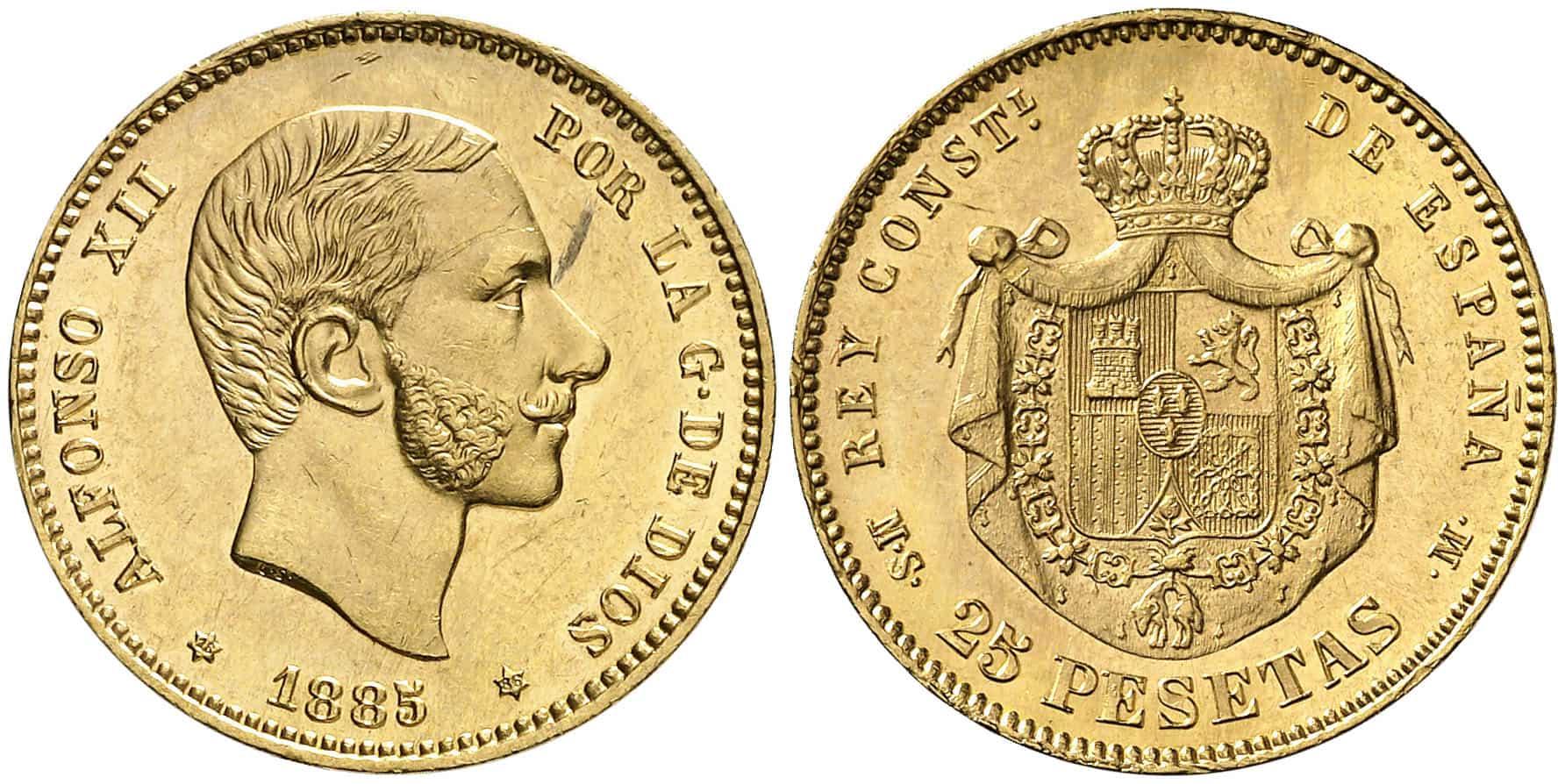 25 pesetas 1885