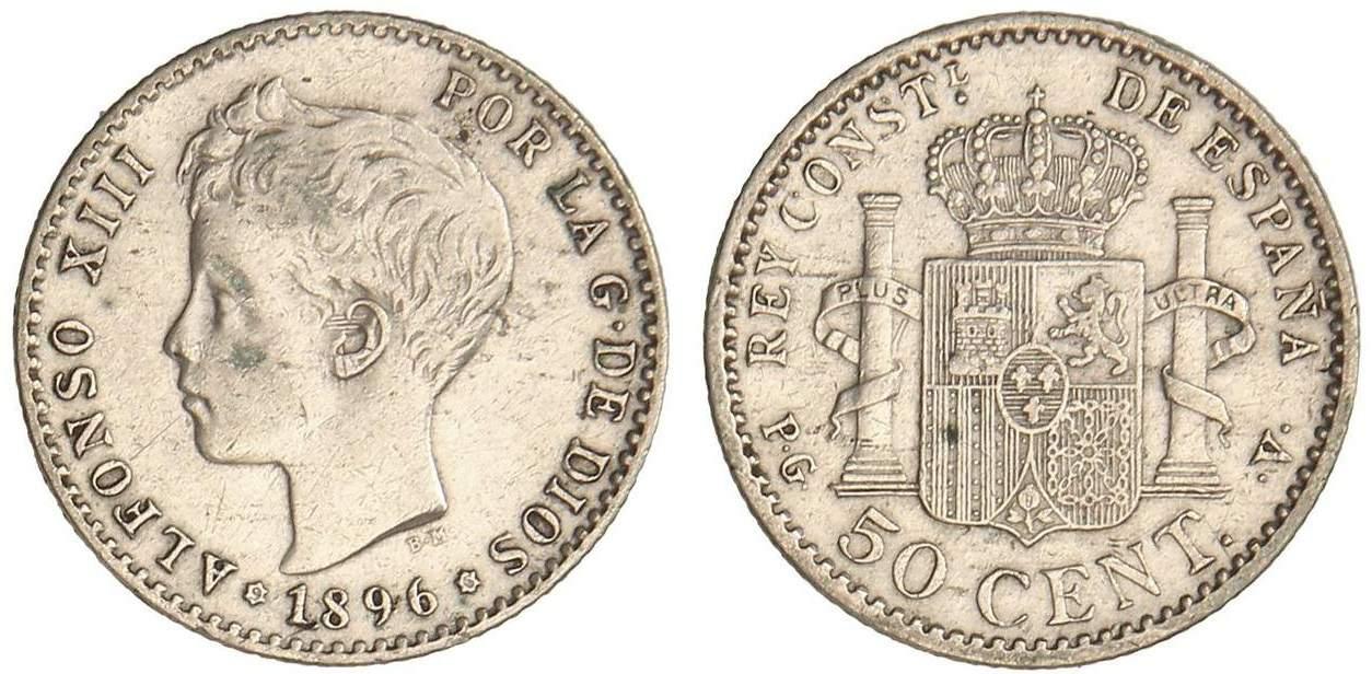 50 céntimos 1896