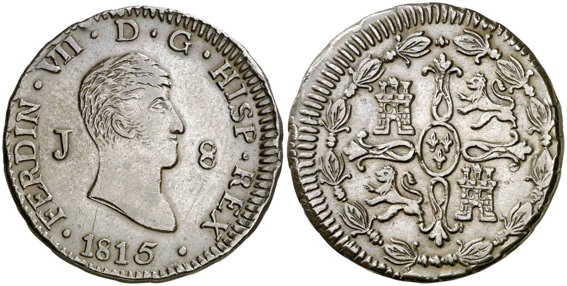 8 maravedíes Jubia 1815 busto pequeño