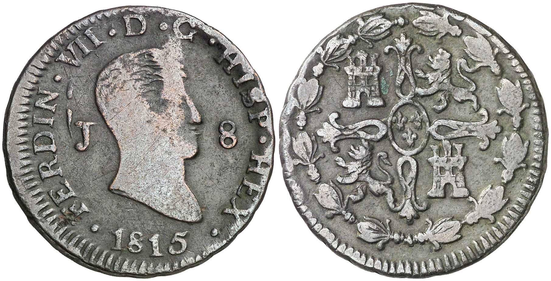 8 maravedíes Fernando VII
