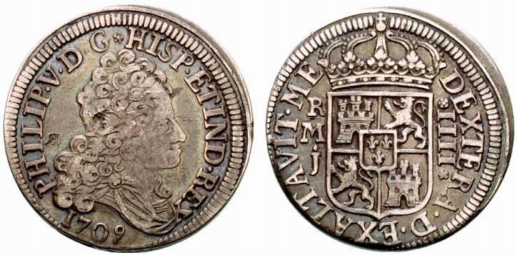 4 reales 1709 Madrid
