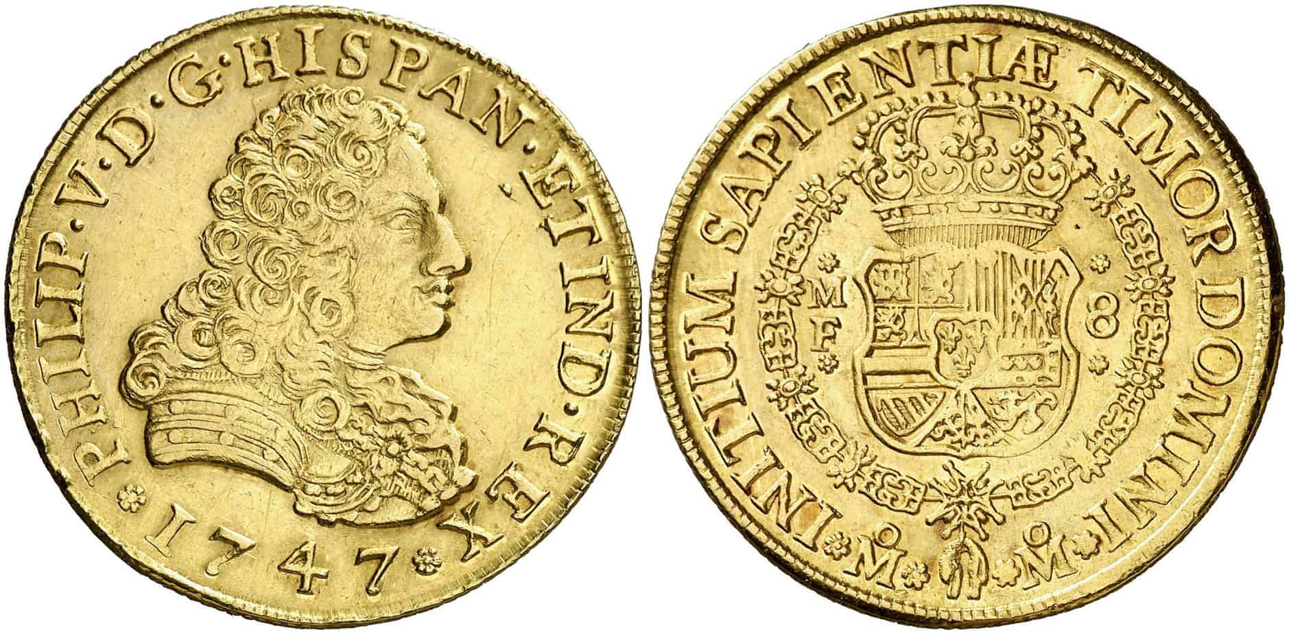 8 escudos 1747 pelucona