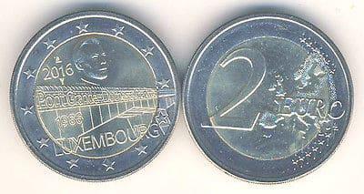 2 euros Puente Gran Duquesa Carlota