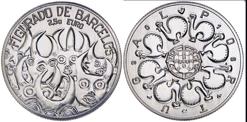 2,5 euros Conmemorativa de Figurado de Barcelos