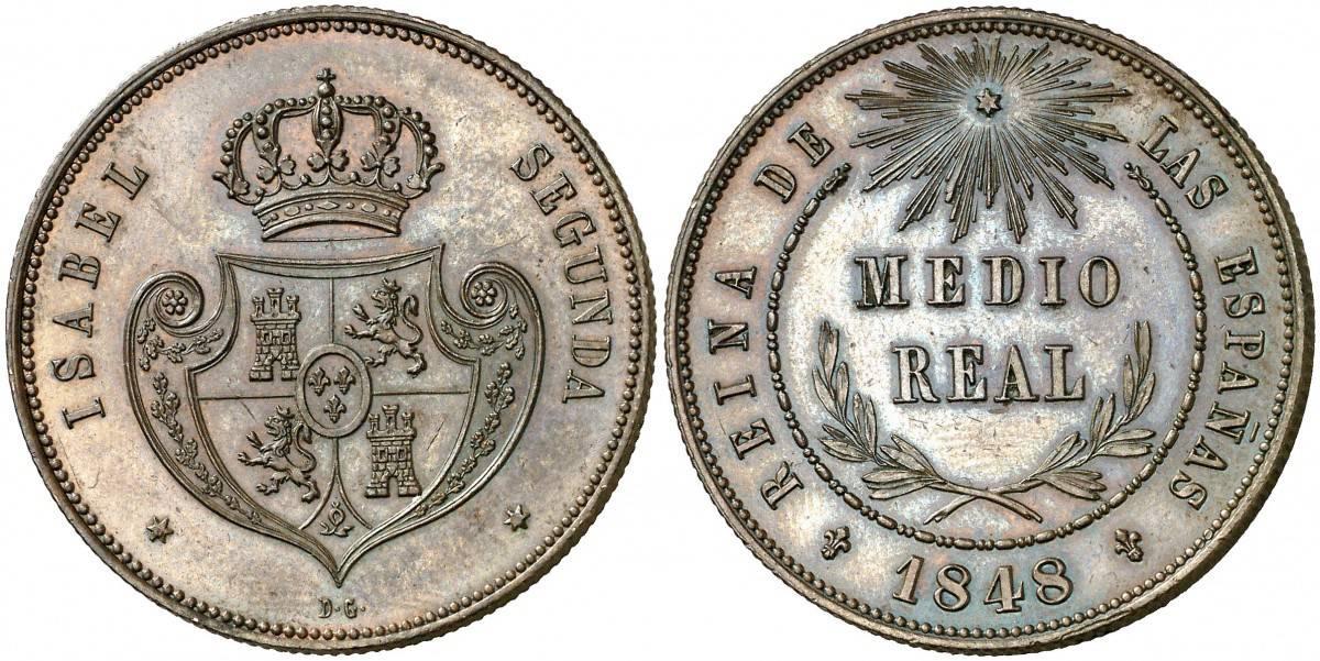 medio real 1848 Madrid