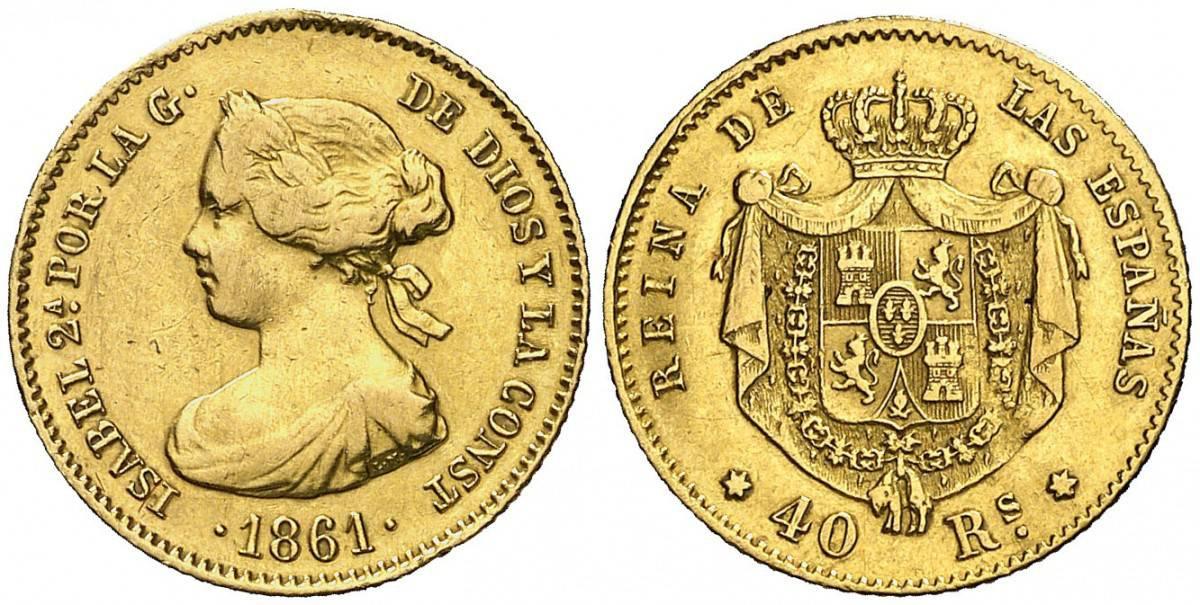 40 reales 1861 Madrid