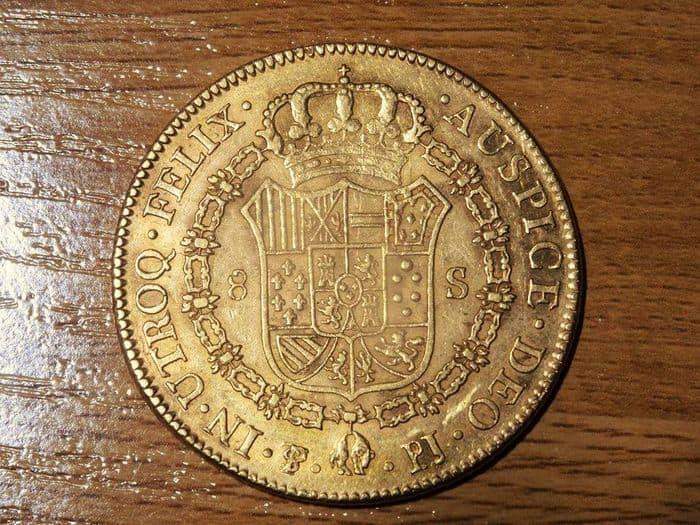 8 escudos Potosí reverso