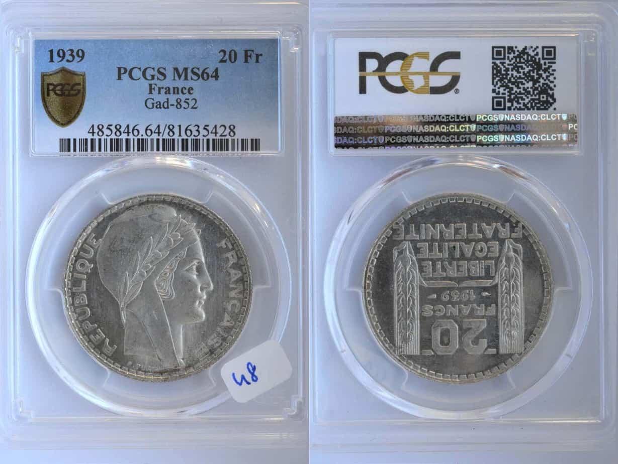 20 francos 1939