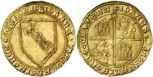 Dobla de la banda. Moneda medieval de oro castellana (figura 2)