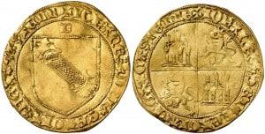 Dobla de la banda. Moneda medieval de oro castellana (figura 3)