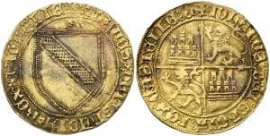 Dobla de la banda. Moneda medieval de oro castellana (figura 4)