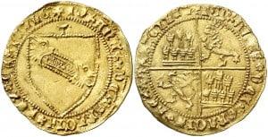 Dobla de la banda. Moneda medieval de oro castellana (figura 7)