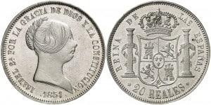 20 reales, Isabel II. Madrid
