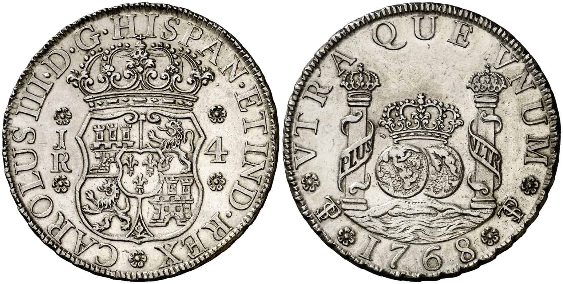 4 reales columnario de Potosí