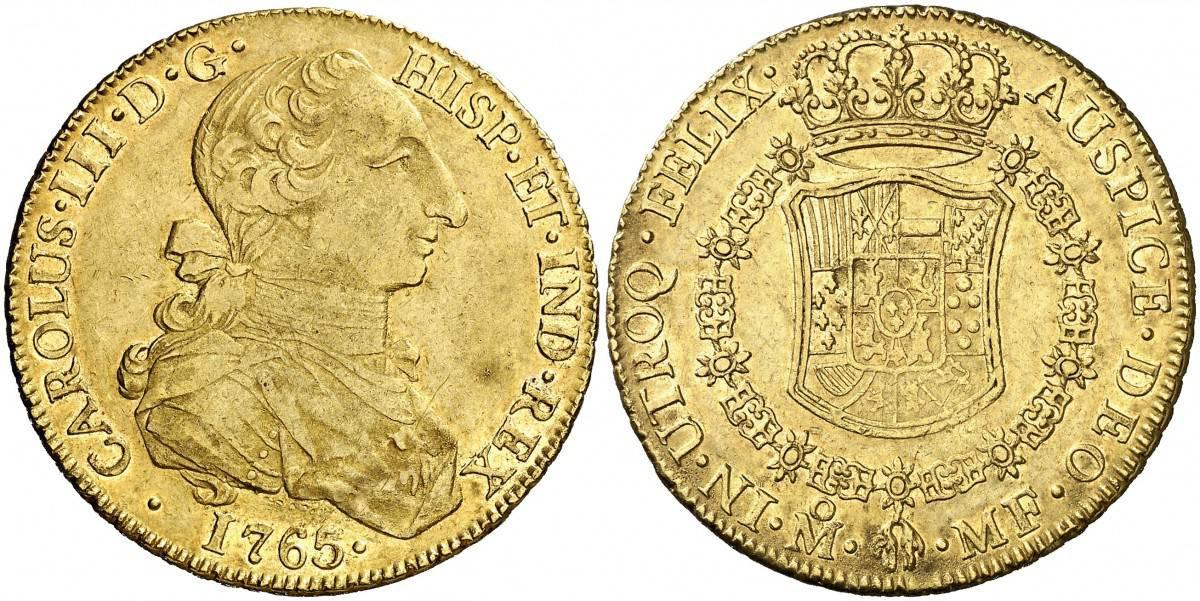 8 escudos Mexico 1765