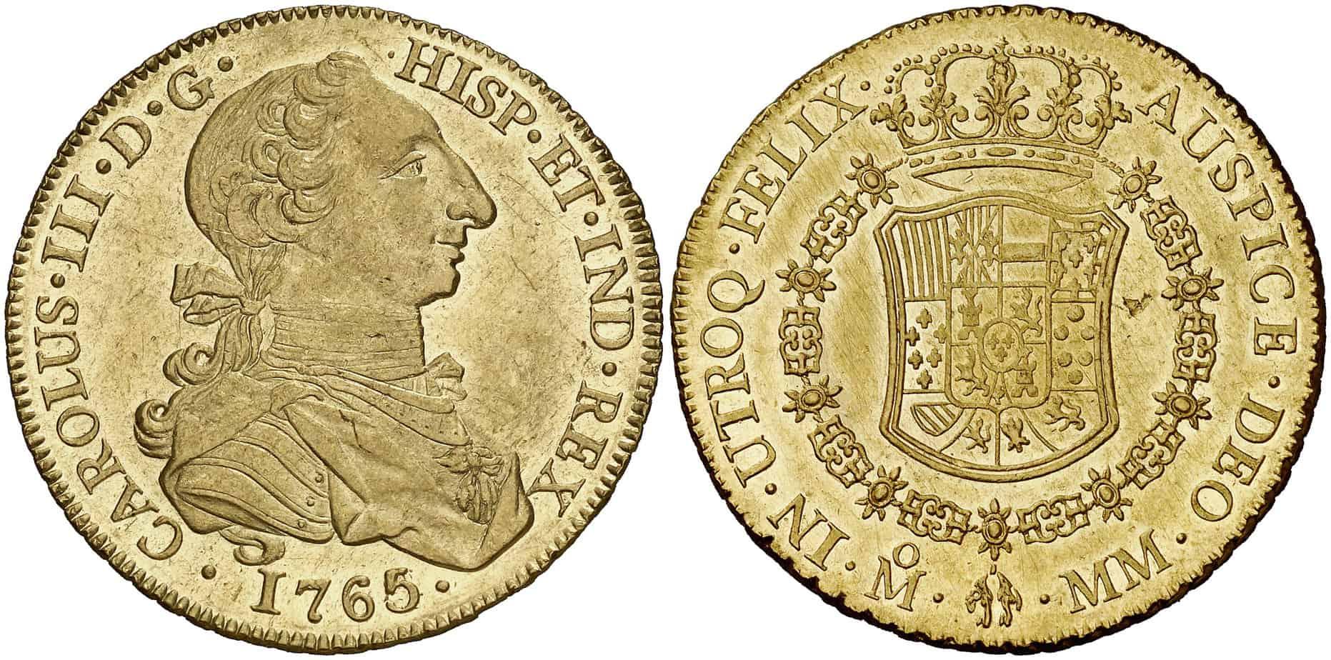 8 escudos México,1765