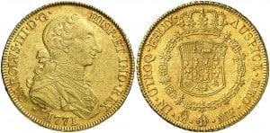 8 Escudos México, 1771