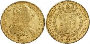 4 Escudos México 1767
