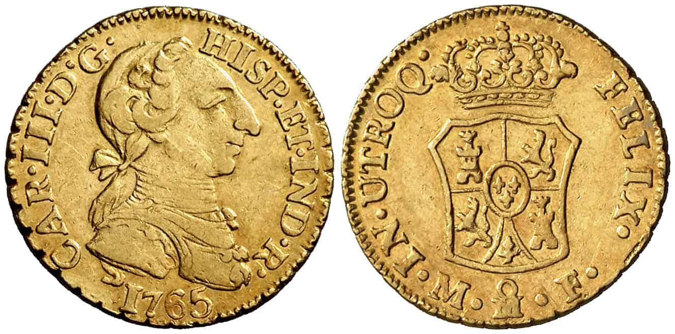 1 Escudo México 1765 MF