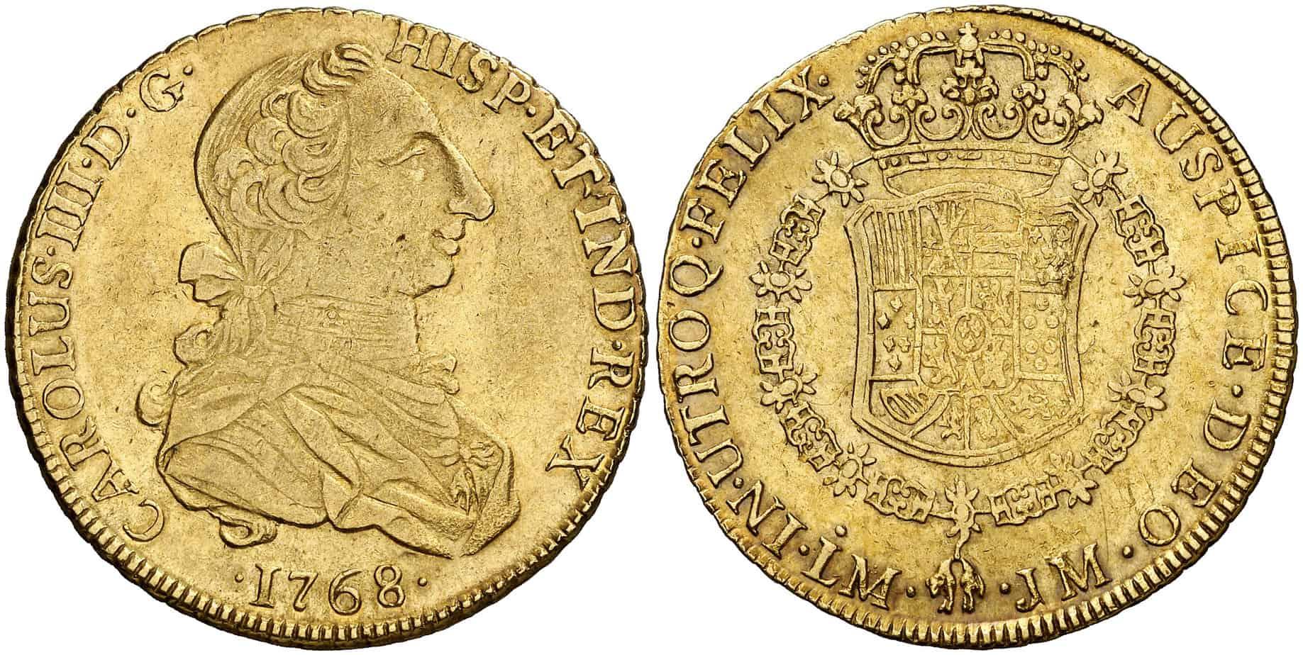 8 escudos lima, 1768