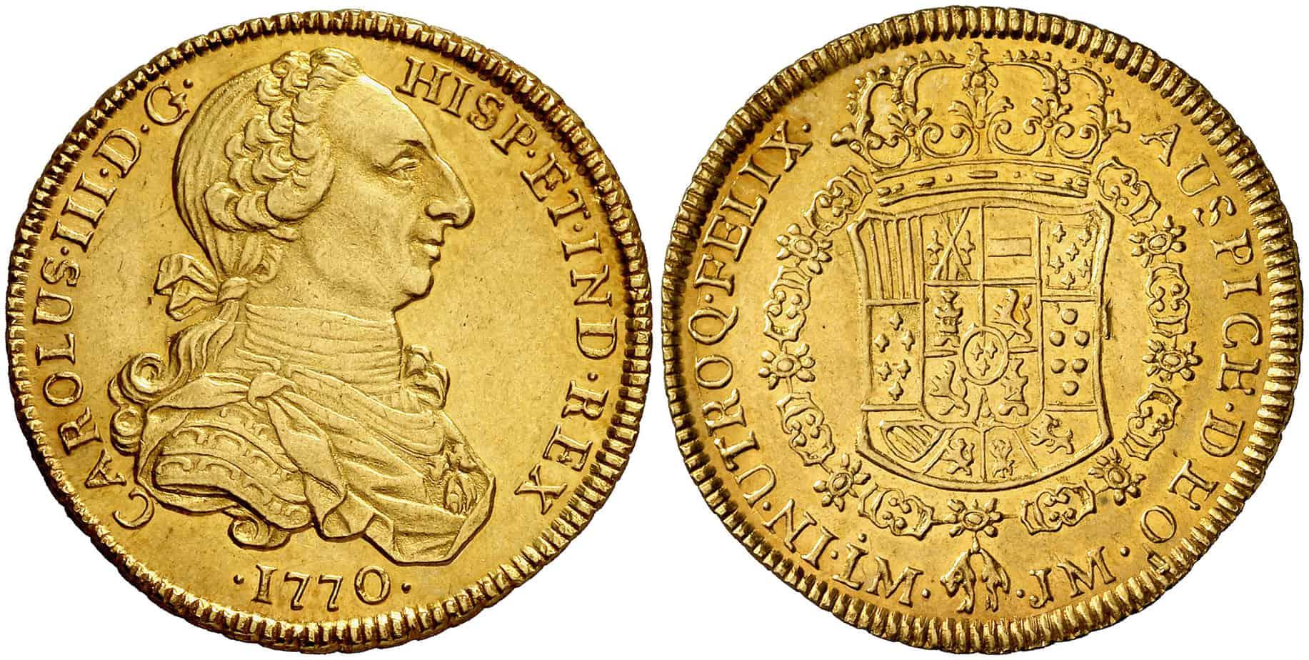 4 Escudos Lima 1770