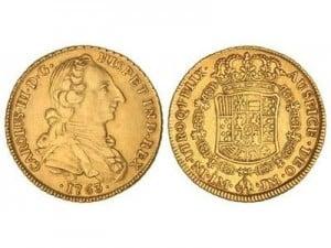 4 Escudos Lima 1763