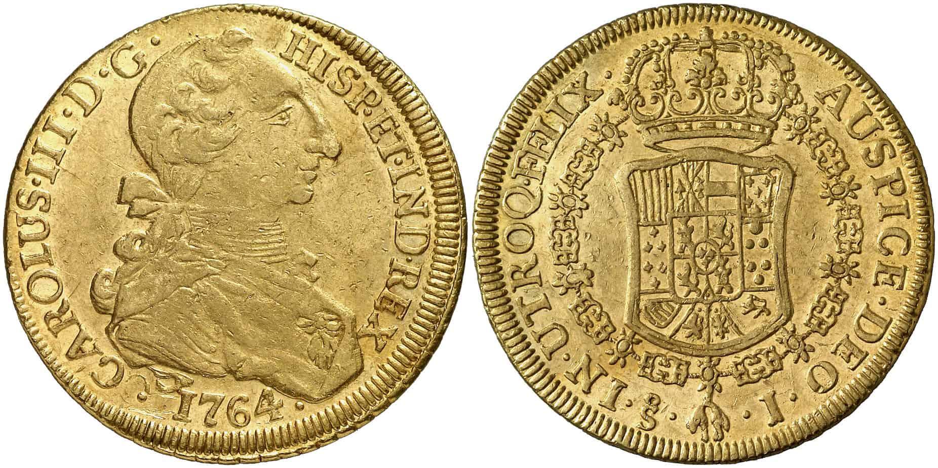 8 escudos Santiago, 1764