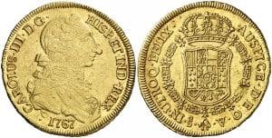 8 escudos Santiago, 1767