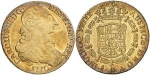 8 escudos santiago 1770