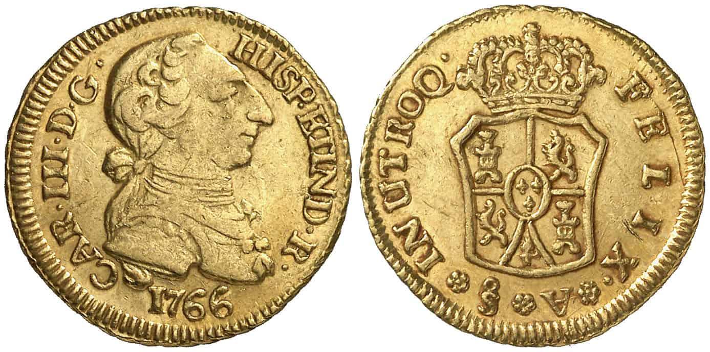 1 Escudo Santiago 1766