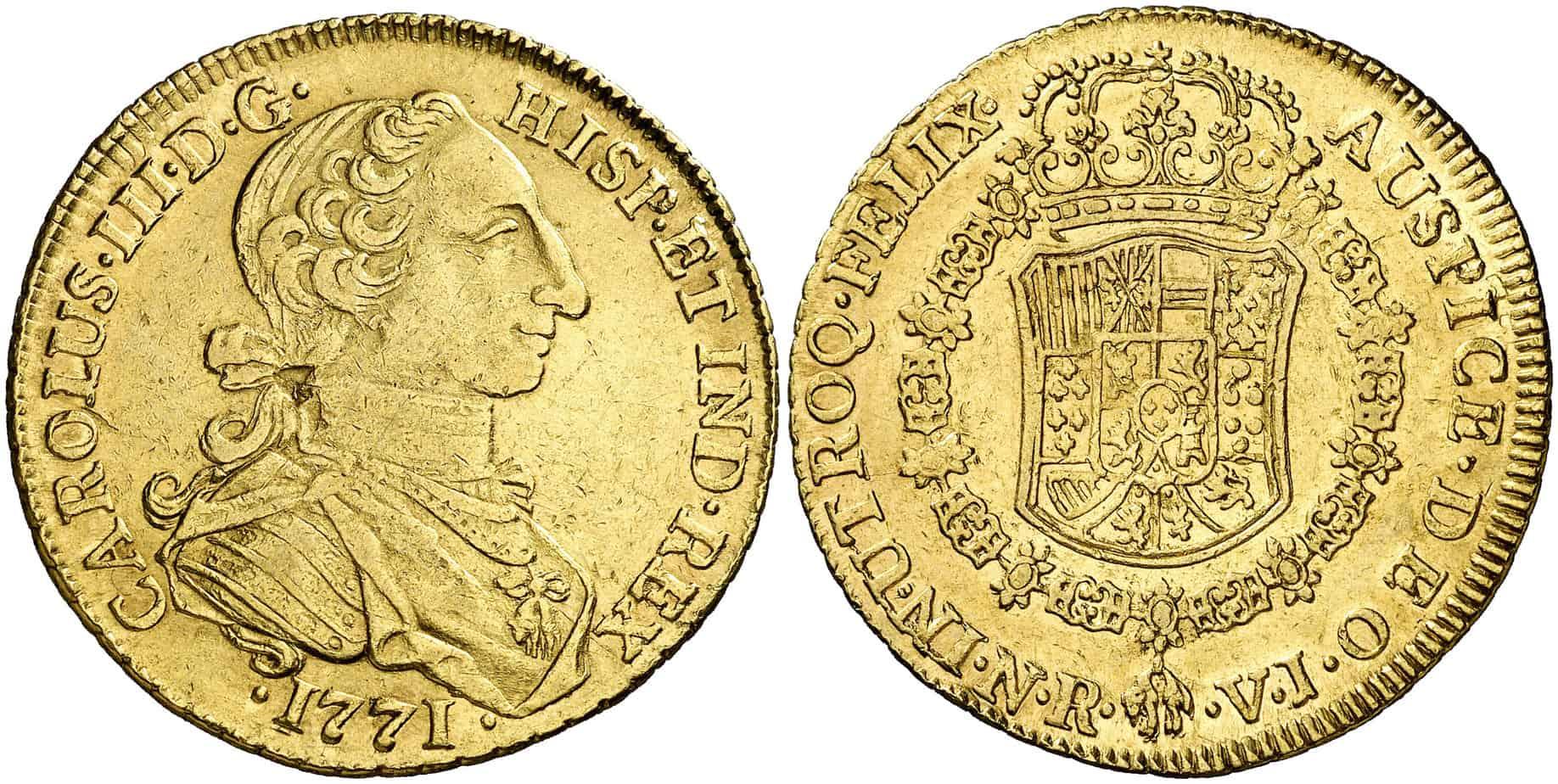 8 escudos santa fe 1771