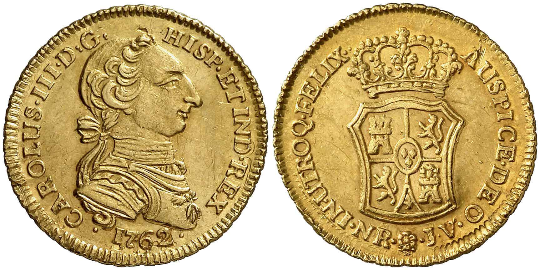 2 Escudos Santa Fe 1762