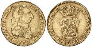 2 Escudos Santa Fe 1770