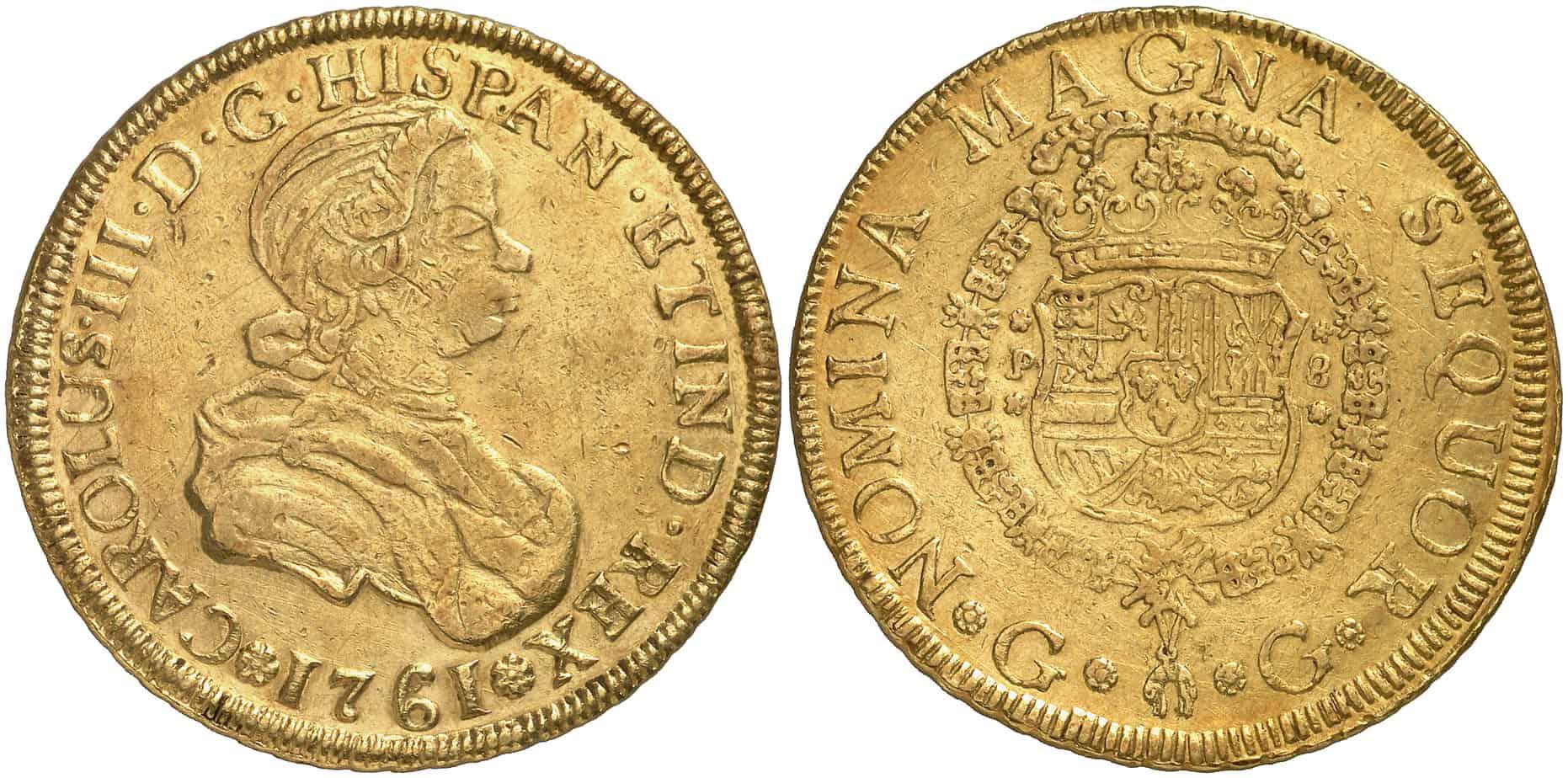 8 Escudos Guatemala, 1761