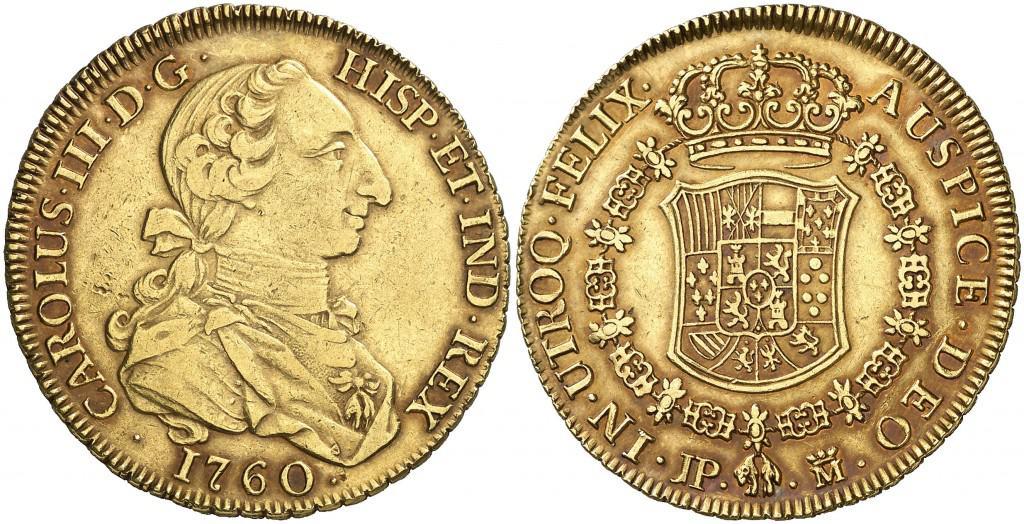 8 Escudos Madrid, 1760